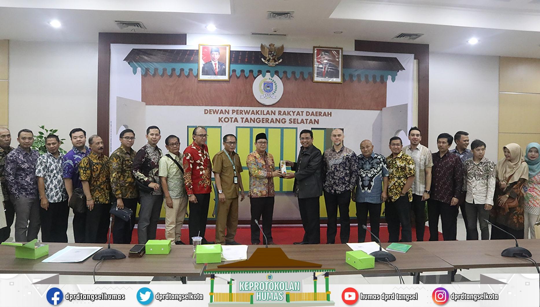 Ketua DPRD menerima Kunker dari Badan Musyawarah DPRD Kota Bandung