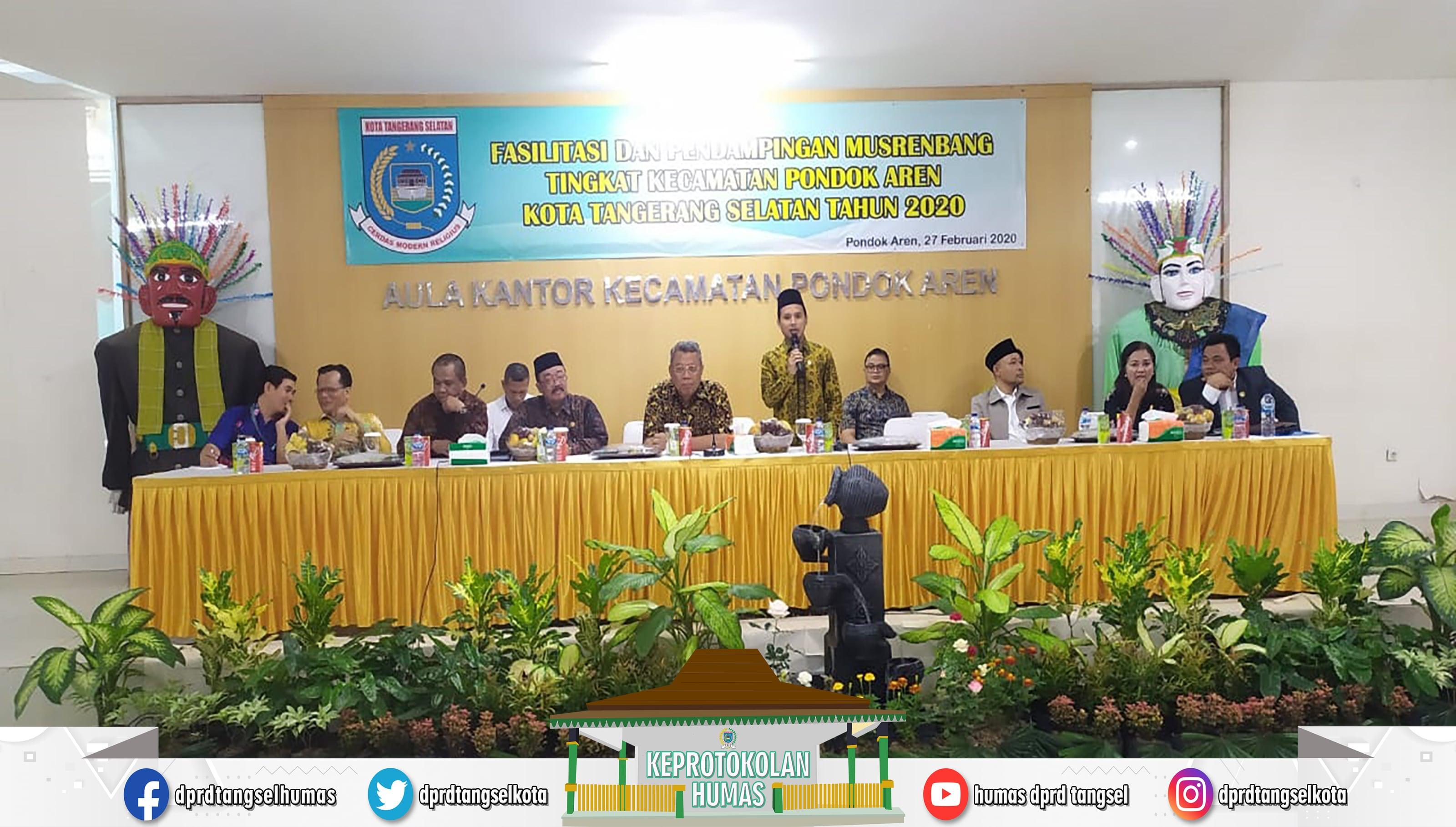 Mustopa Wakil Ketua DPRD hadiri Musrenbang di Kecamatan Pondok Aren