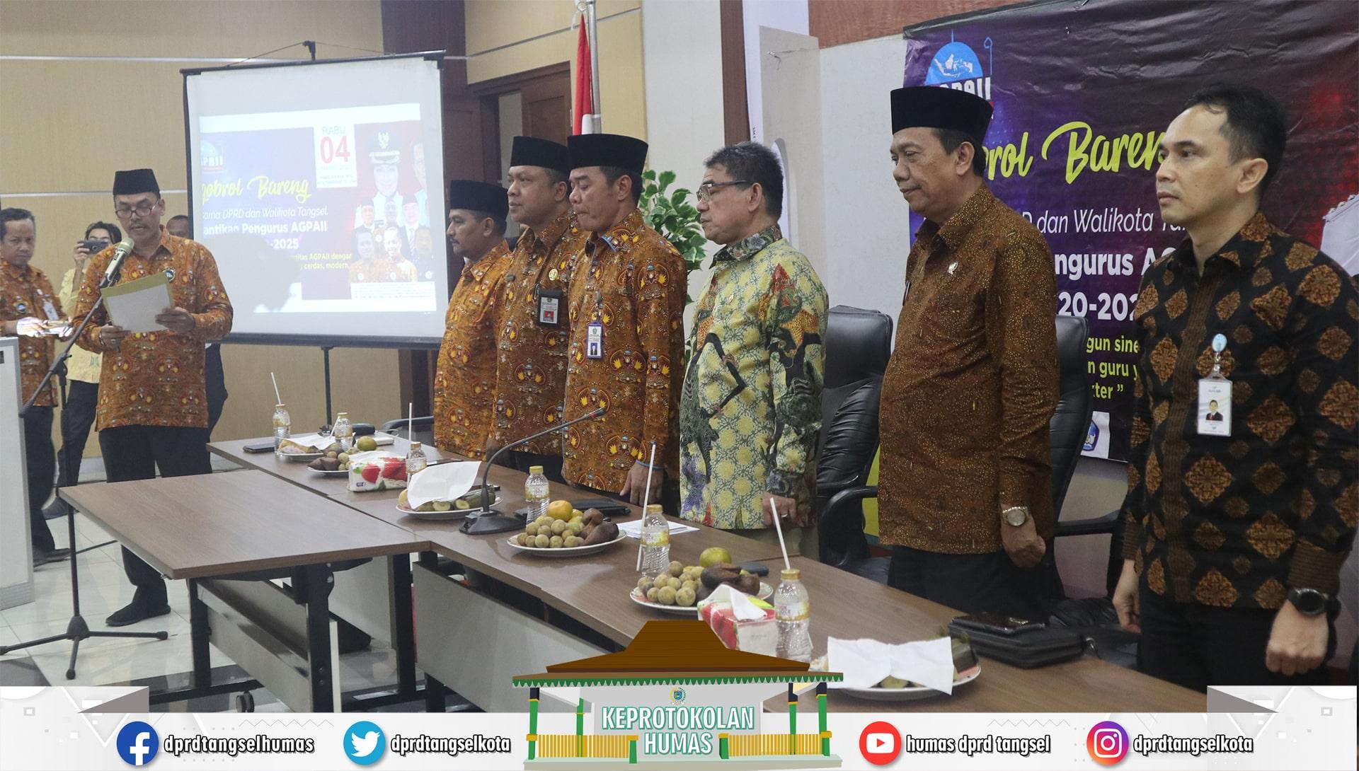 Sukarya & Mathoda menghadiri Pelantikan AGPAII Masa Bakti 2020-2025