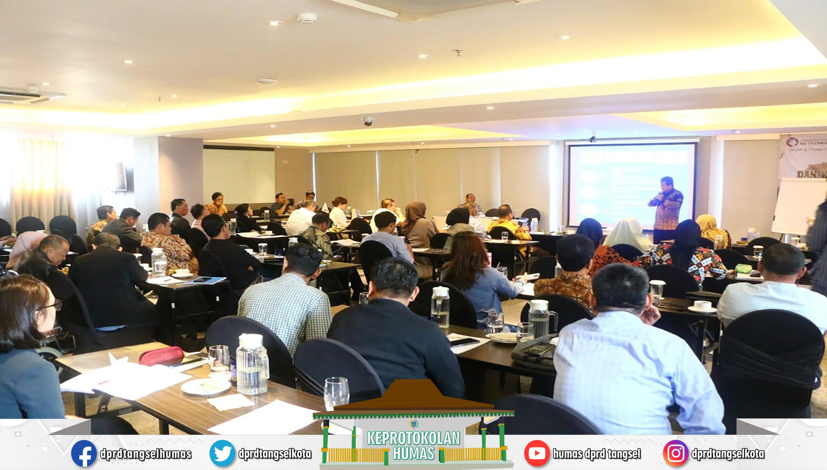 DPRD Tangsel Mengadakan Bimbingan Teknis Hak Protokoler dan Keuangan