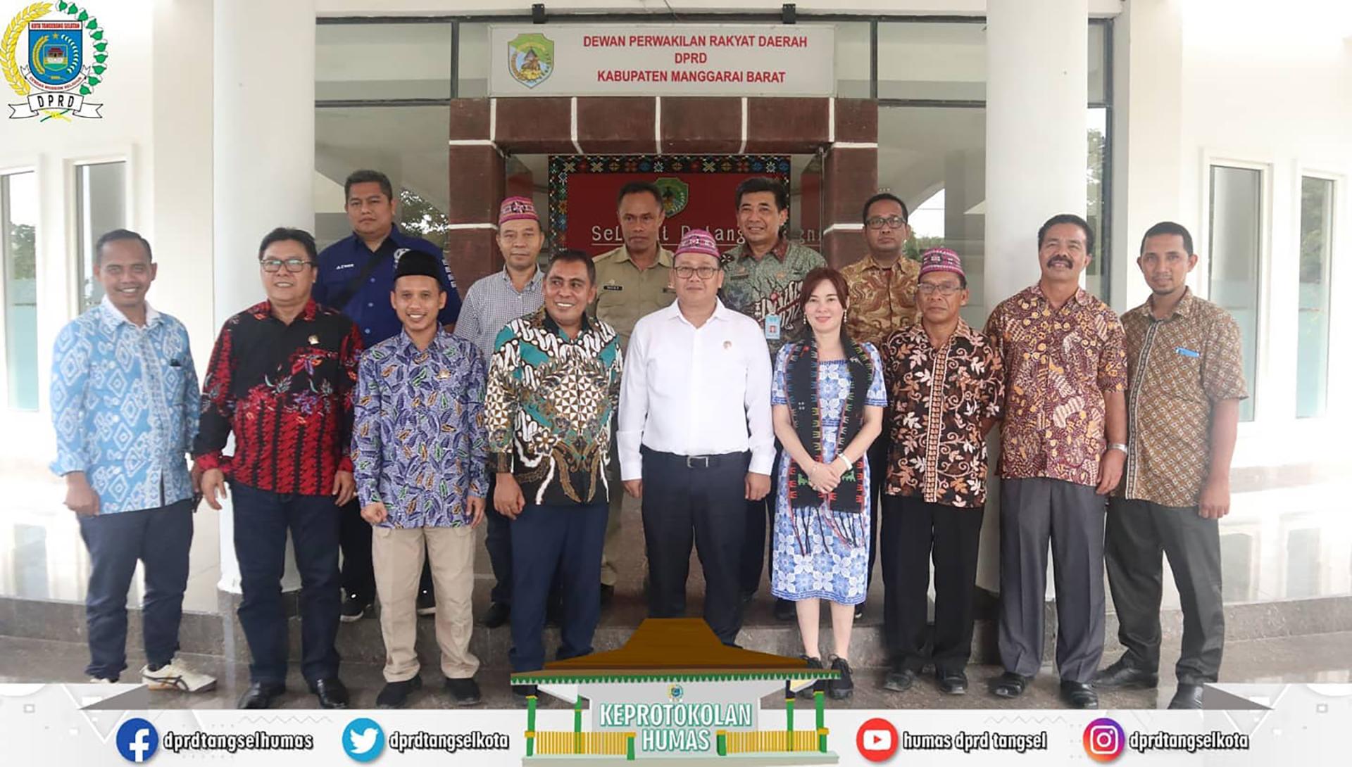 Pimpinan DPRD tangsel melakasanakan Kunker ke DPRD Manggarai Barat.
