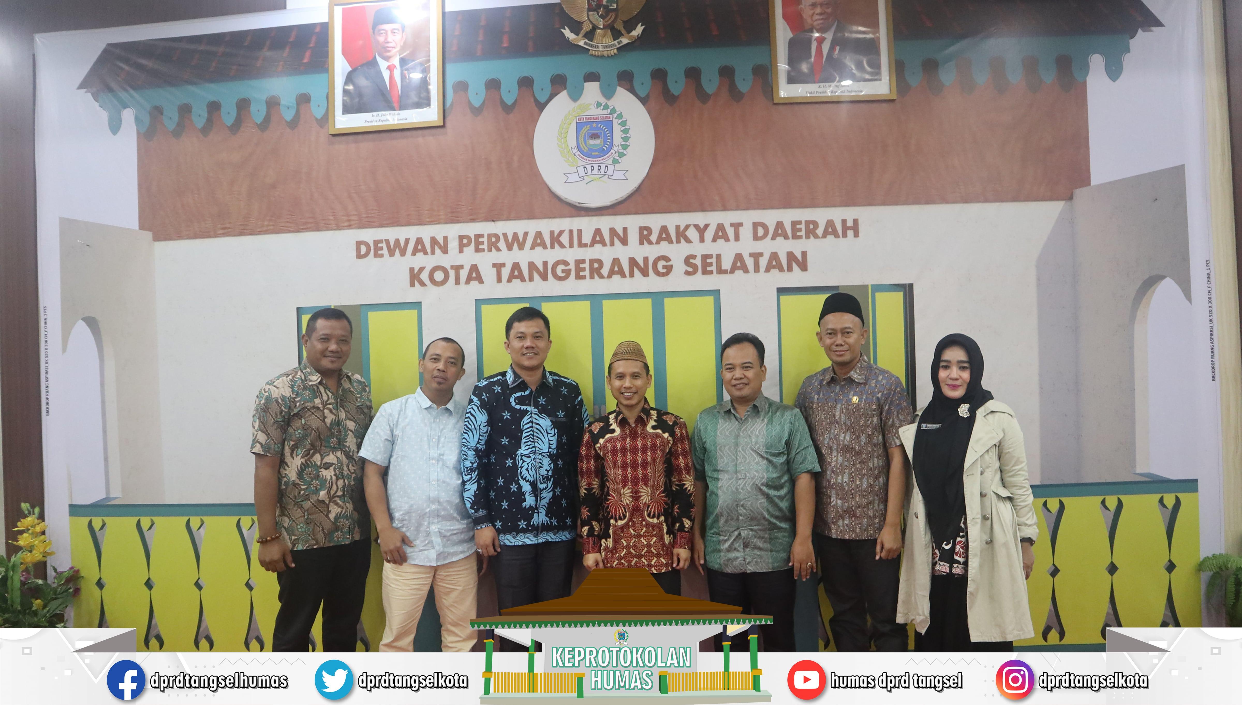 Mustopa Wakil Ketua DPRD Menerima kunjungan kerja 2 DPRD Kabupaten
