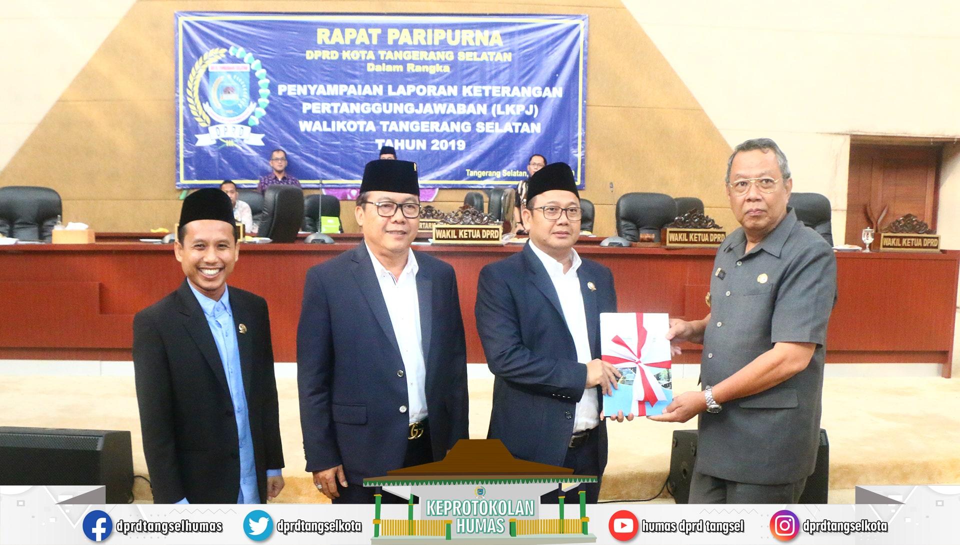 DPRD Gelar Rapat Paripurna Penyampaian LKPJ Walikota Tahun 2019