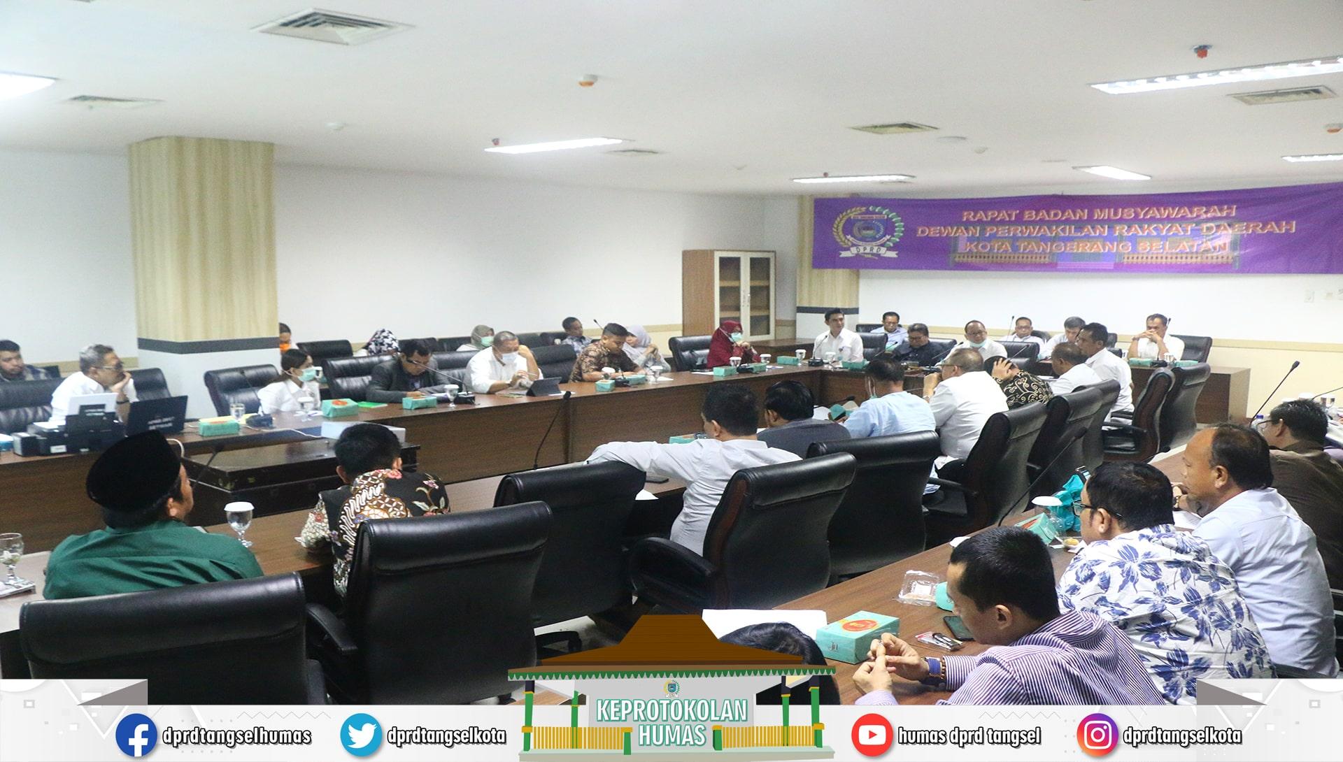 DPRD Tangsel mengadakan Rapat terkait Virus Corona (Covid-19)